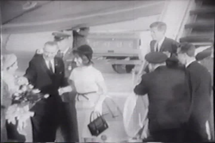 1960s - Raw silent news footage of events leading up to the John F. Kennedy assassination.