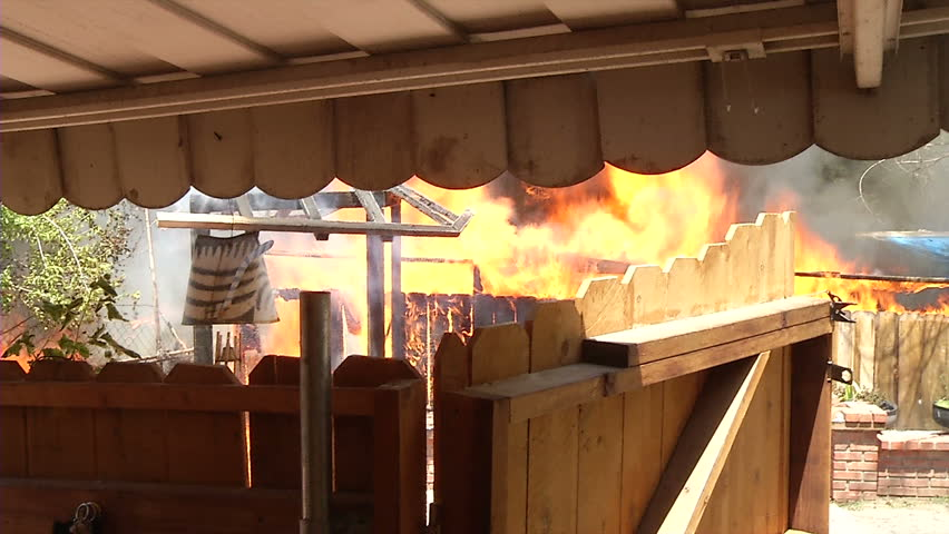 Home Fully Engulfed In Flames, Neighbor Point Of View