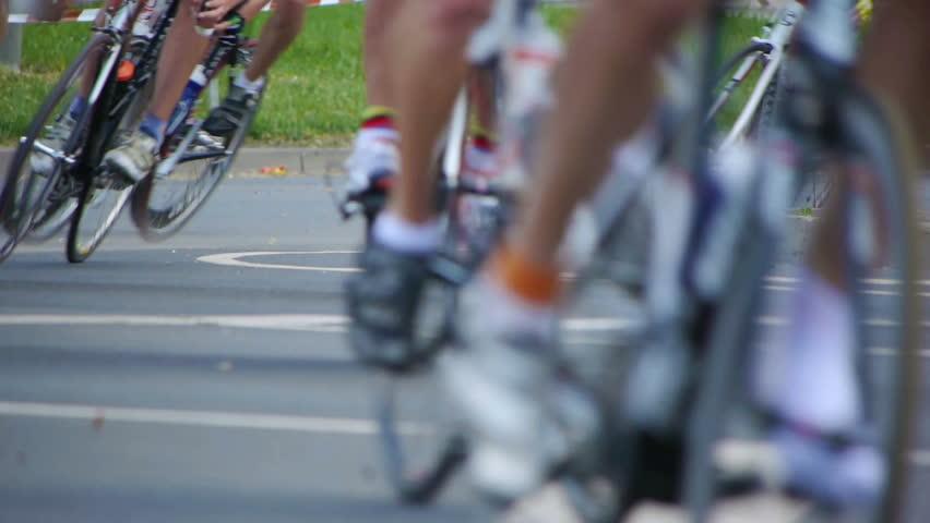 HD - Cycling Marathon. Bicycle wheels