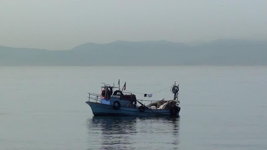 Tuzla istanbul turkey april 2 2013 small fishing for 2 man fishing boat