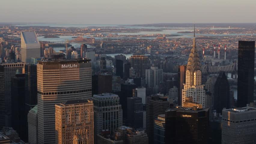 Chrysler building and midtown manhattan skyline