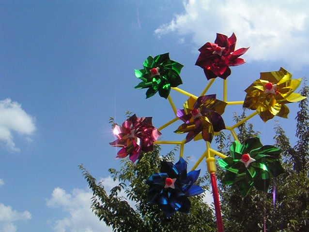 Windmill on blue sky - SD stock video clip