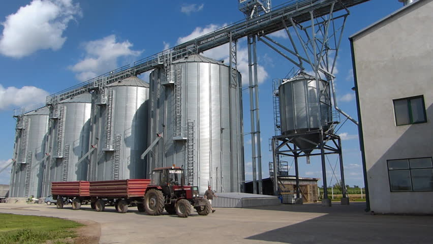 Agricultural Silo and Tractor