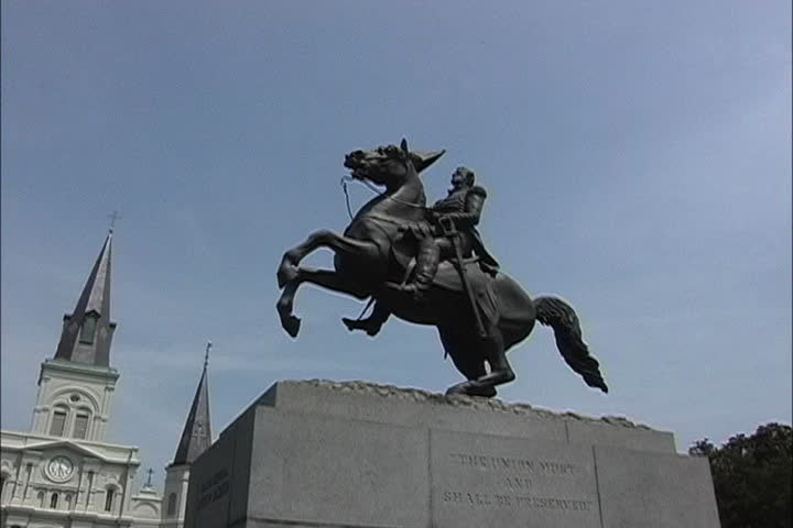 Statue Andrew Jackson - SD stock video clip