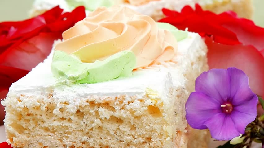 Cake Images Good Morning : Good Morning : Cake With Whipped Cream Served With Black ...