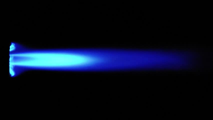 Blue Flame from a butane blow torch