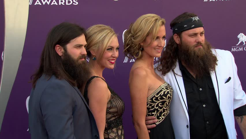 LAS VEGAS - April 7, 2013: Duck Dynasty at the Academy of Country Music Awards 2013 in the MGM Grand Garden Arena in Las Vegas April 7, 2013