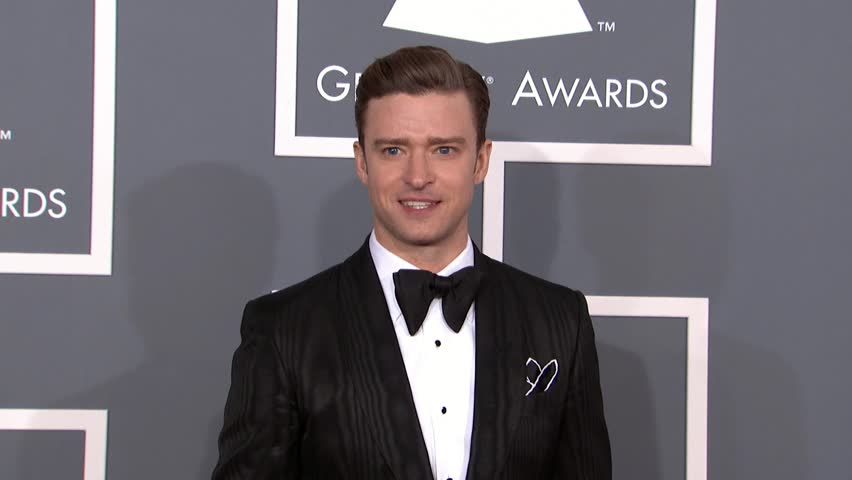 LOS ANGELES - February 10, 2013: Justin Timberlake at the Grammy Awards 2013 in the Staples Center in Los Angeles February 10, 2013