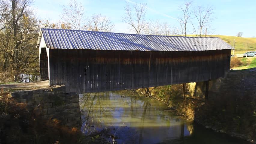 Hillsboro Covered Bridge, Kentucky - HD stock footage clip