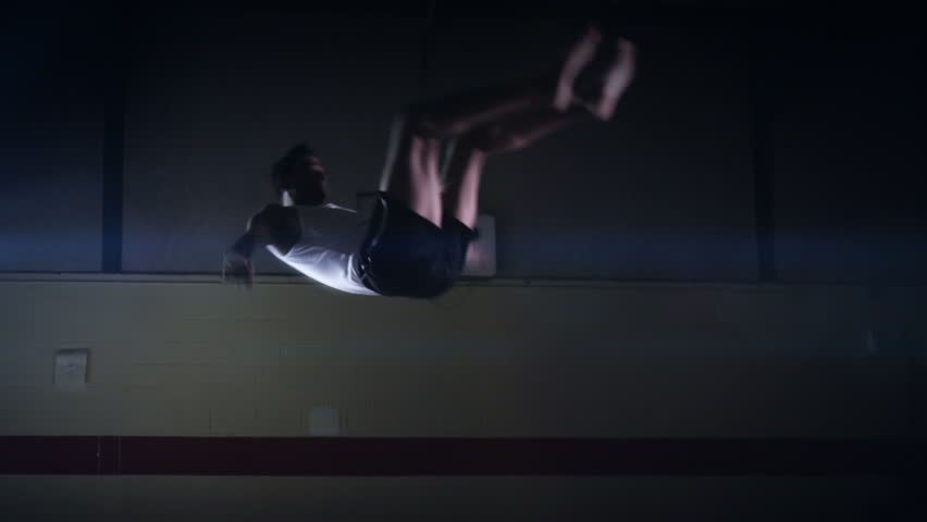Gymnast floor work. Olympics sport in contemporary setting. Slow motion. Shot on RED Epic at 240FPS