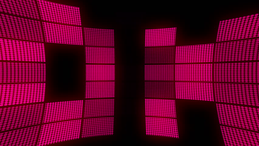 Digital animation of pink squares lighting up like a dance floor  - HD stock video clip