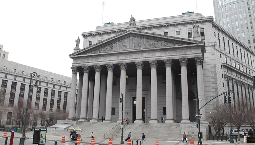 NYC Courthouse circa 2012 - HD stock footage clip