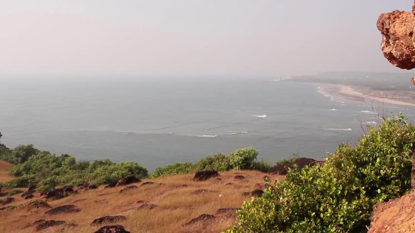 Goa Beach Hd Images: Top View On GOA Beach Stock Footage Video 4575053