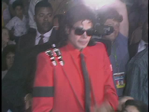 SANTA BARBARA - March 13, 1989: Michael Jackson at the Michael Jackson at Circus Vargas in Santa Barbara March 13, 1989