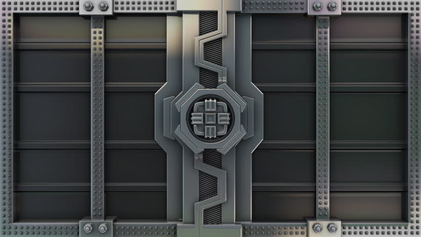 Opening of the vault door. The Alpha Channel is included. - HD stock video clip