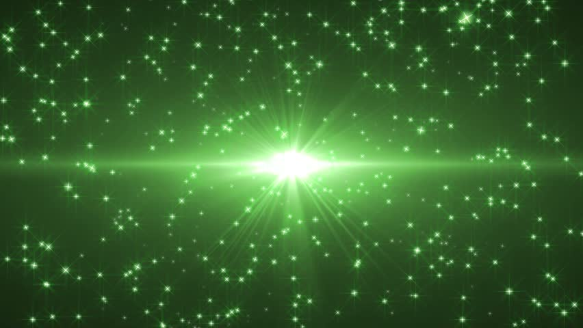 green star stream background stock footage video 4686218