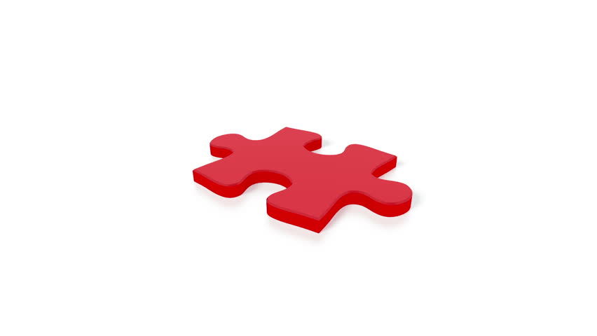 A concept video depicting a puzzle concept. Rendered against a white background with a soft shadow and reflection.