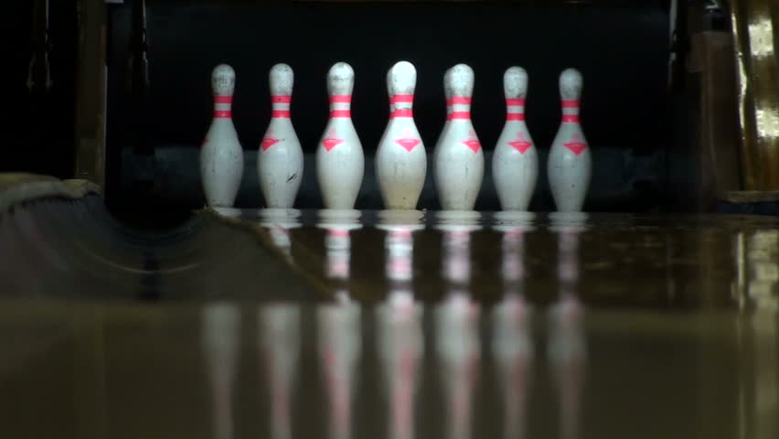 Bowling strike slow motion - HD