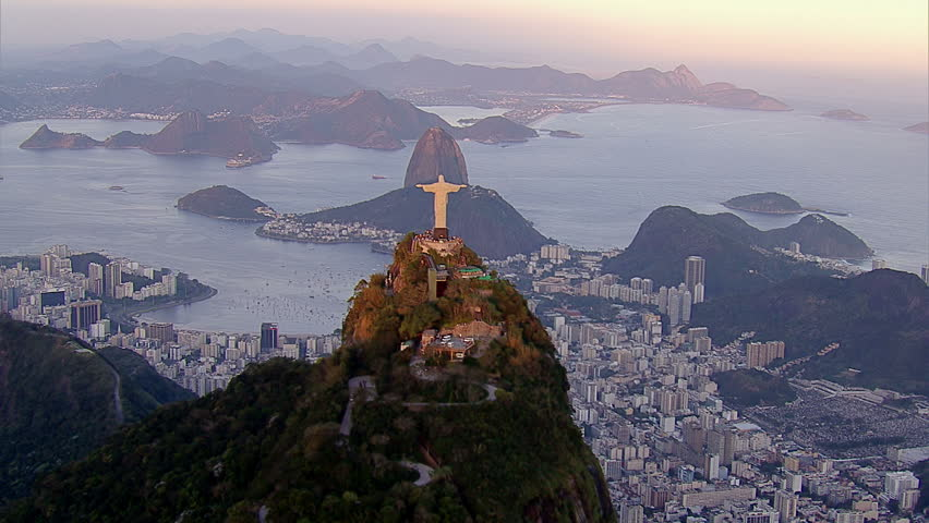 Christ the Redemeer Statue at Sunset, Rio de Janeiro, Brazil