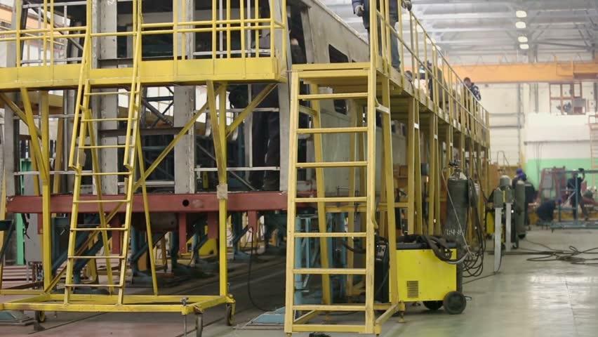 Mytishchi Russia  city photos : Mytishchi Metrovagonmash factory on 18 April 2012, Mytishchi, Russia ...