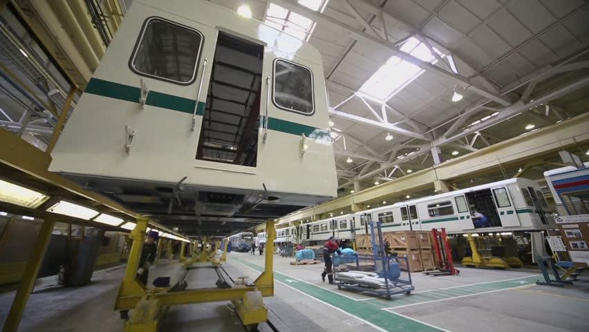 Mytishchi Russia  City pictures : Mytishchi Metrovagonmash factory on 18 April 2012, Mytishchi, Russia ...