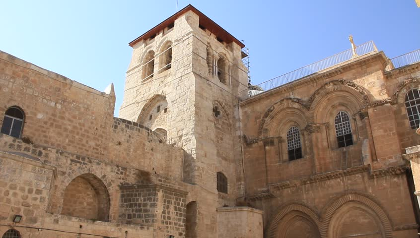 Church of the Holy Sepulchre in Jerusalem, Israel - HD stock footage clip