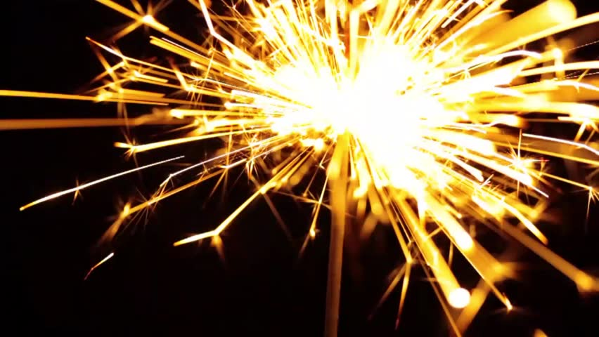 Lightening Christmas sparkler - HD stock footage clip