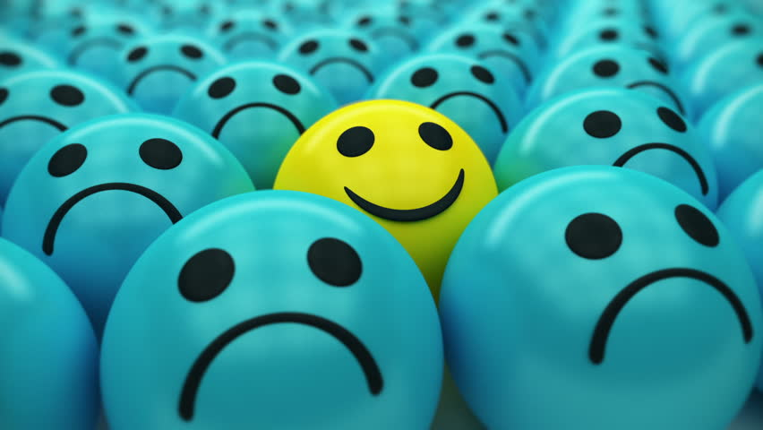 Happy smiley face icon in a negative majority like a symbol of happiness success good mood and - Happy mood wallpaper ...