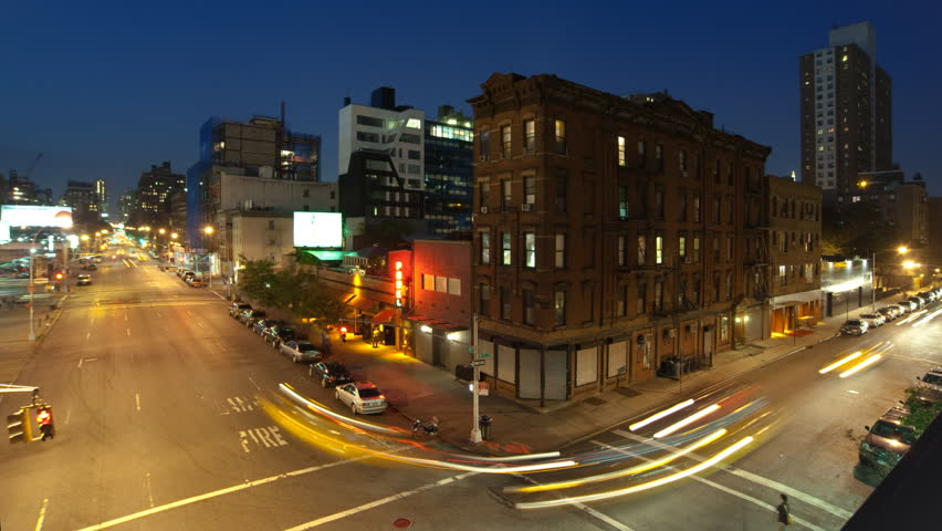 New York City night timelapse of Chelsea