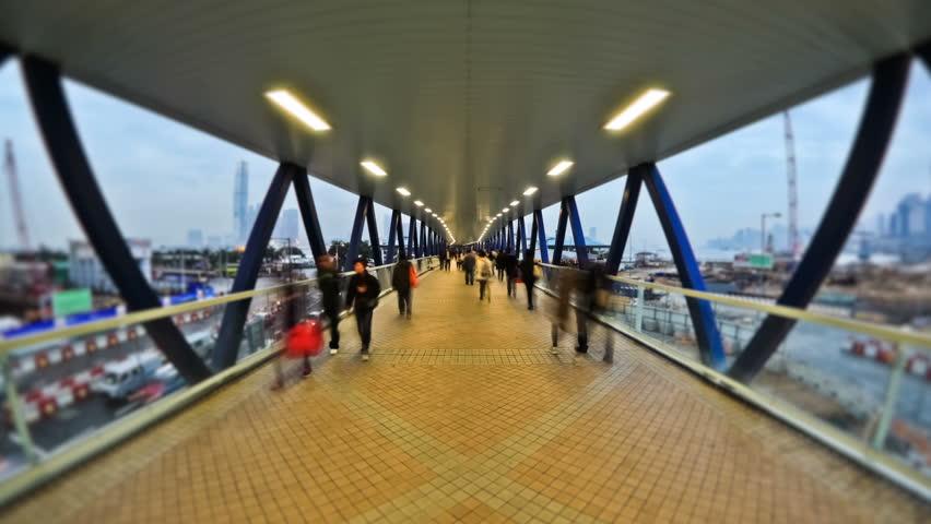 City Pedestrian Traffic Time Lapse - Hong Kong