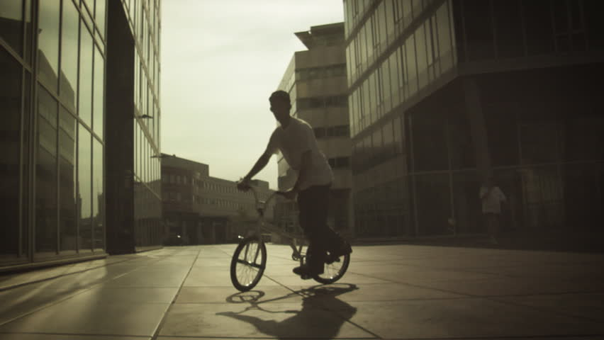 BMX: Spinning - HD stock video clip