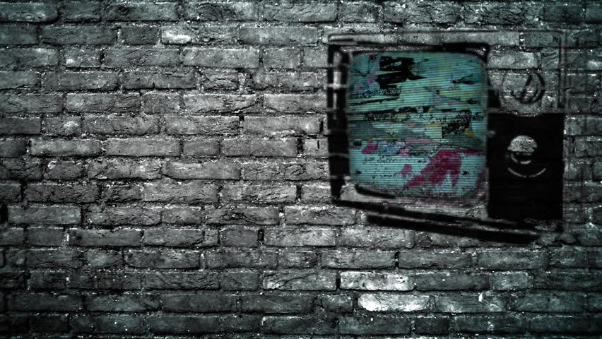 TV on a Brick Wall