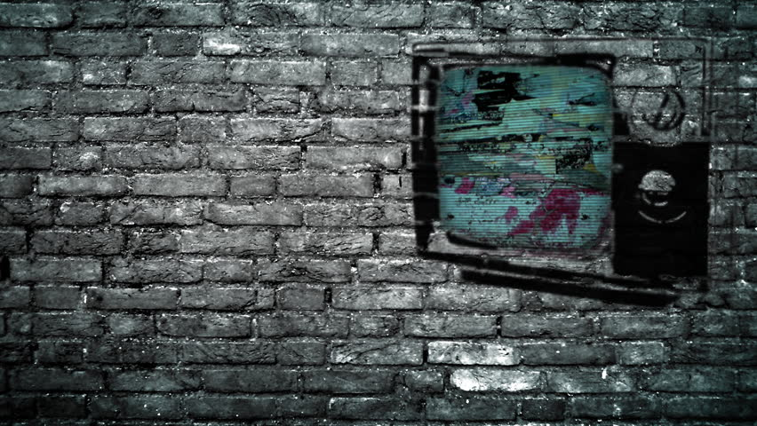 TV on a Brick Wall