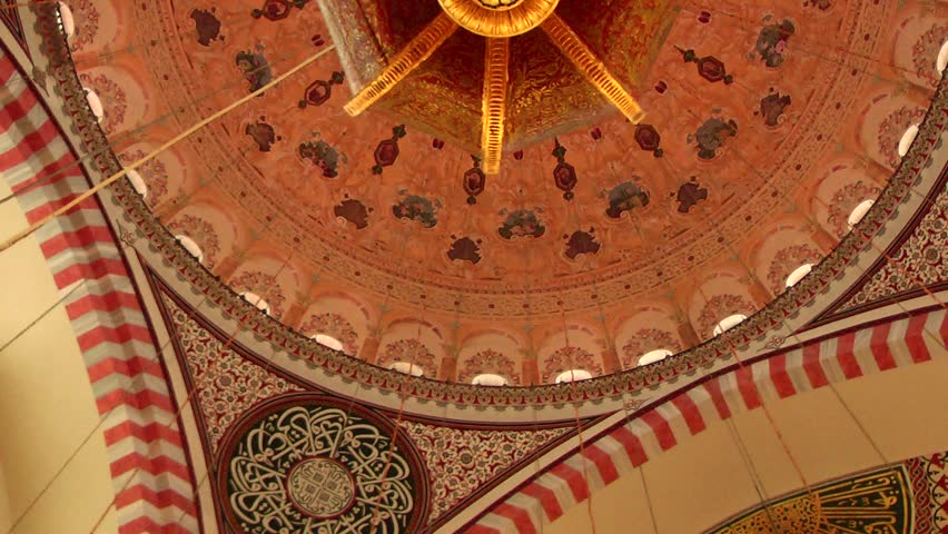 ISTANBUL, TURKEY - OCTOBER 29, 2013: Suleymaniye Mosque was built by Mimar Sinan. He was the best architect in Ottoman. This mosque was restored in 2012. - HD stock video clip