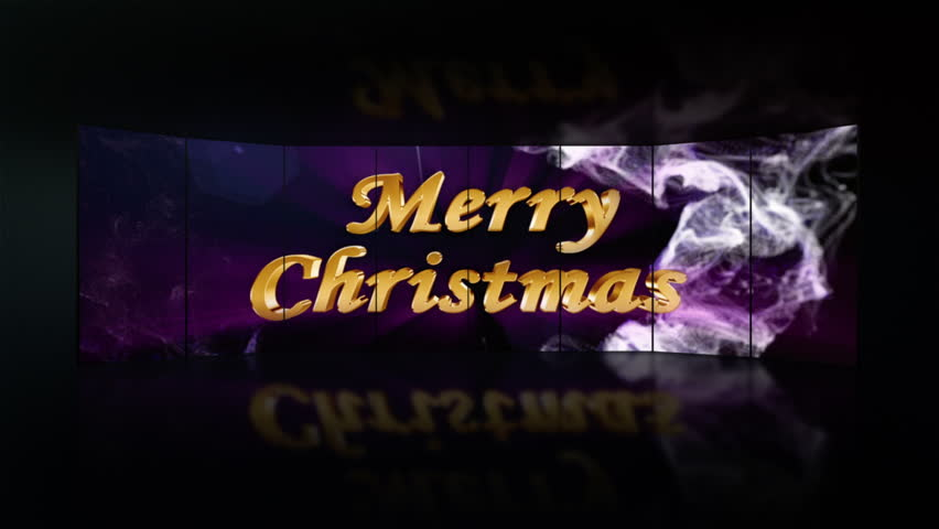 Merry Christmas Gold Text in Monitors