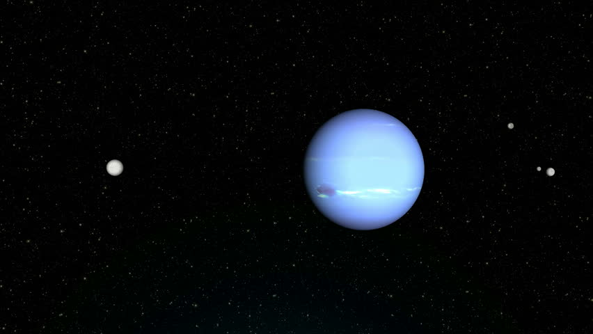 "Neptune planet, Solar system planets : Neptune ""Textures planets furnished by NASA"" - HD stock footage clip"