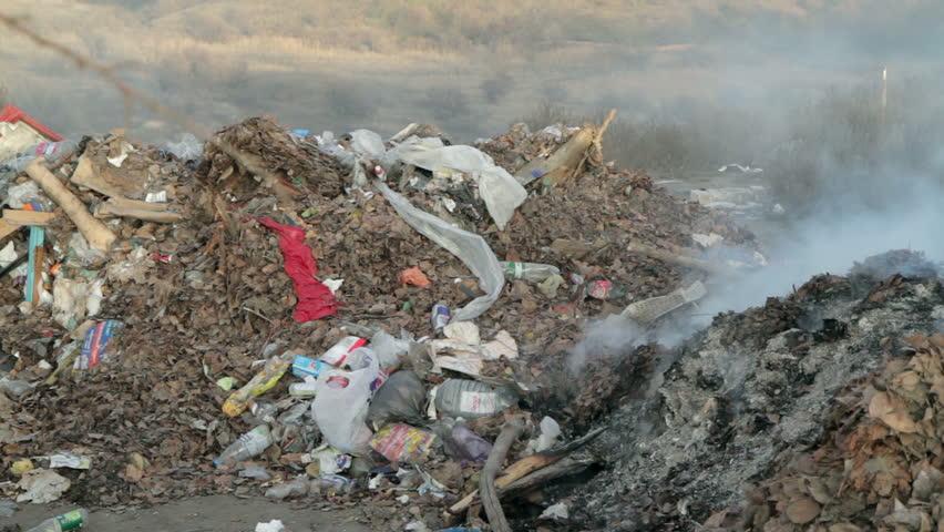 Burning Garbage Dump Burning Garbage Dump