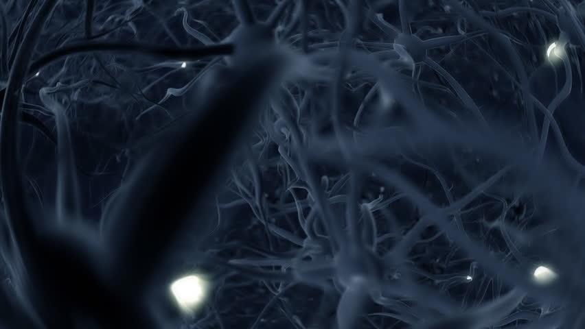 Neurons, brainstorm, seamless loop, HD1080p - HD stock footage clip
