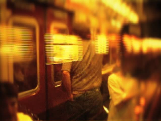 NY Subway in blurred motion. - SD stock footage clip
