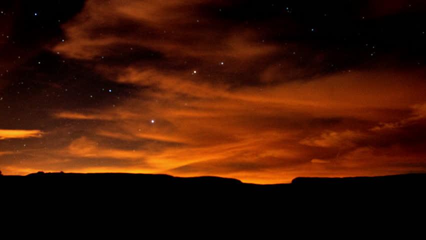 Time Lapse of Night Sky in Joshua Tree - 4K, UHD, Ultra HD resolution