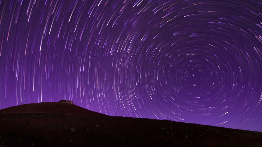 Night Sky Star Trail Time Lapse Background - 4k (4096x2304) ultra hd quality.