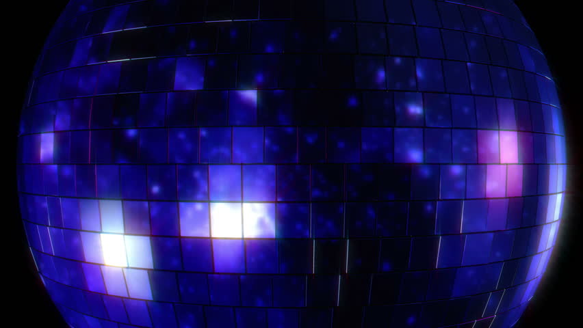 Looping Video of 3D Animated Disco Mirror Ball
