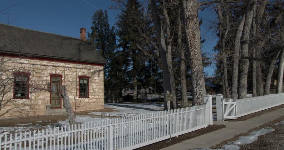 Spring City Utah Jan 2014 Rural Pioneer Home Picket