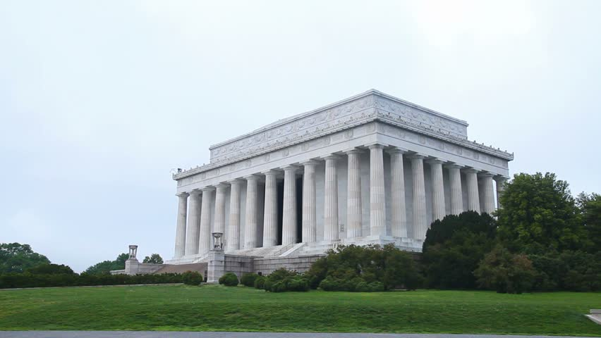 The Lincoln Memorial in Washington, DC in the morning - HD stock video clip