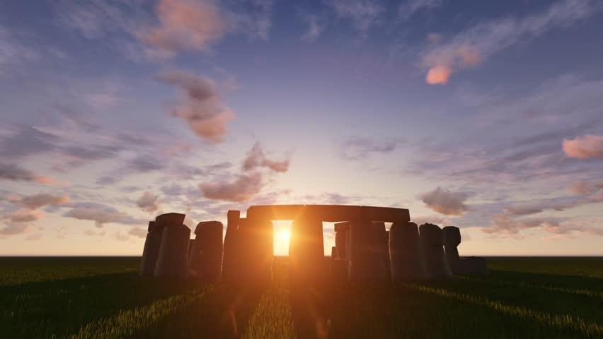 Stonehenge sunrise / sunset timelapse