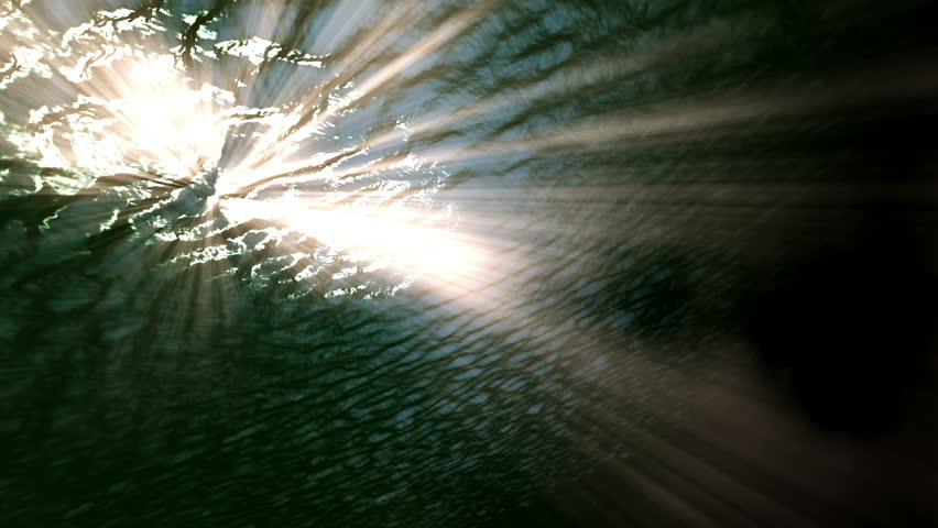An underwater scene animated with fractal waves and light rays HD stock footage