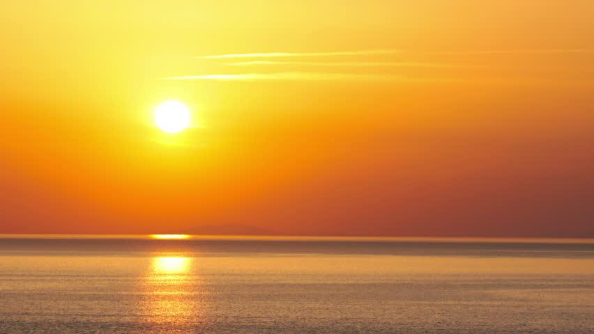 sunset - timelapse. 4K. FULL HD, 4096x2304.