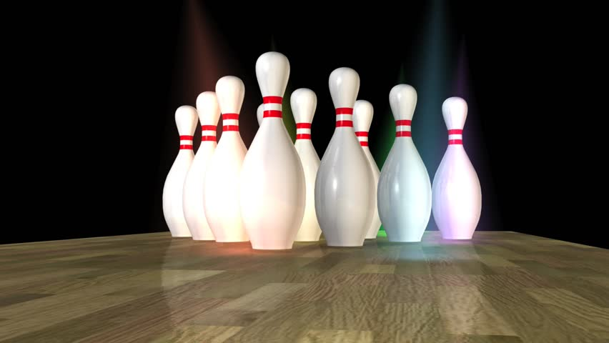 Bowling Strike on 10 Pin Alley!