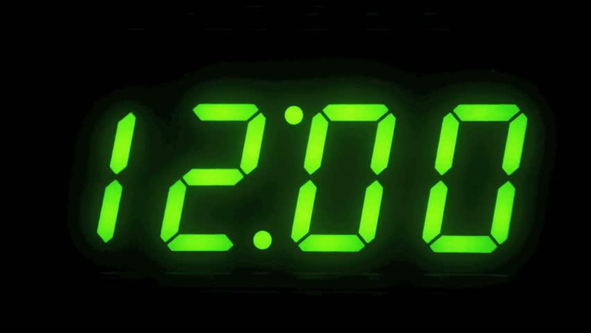 Digital Display Flashing 12 O'clock Stock Footage Video ... Graphic Equalizer Vector
