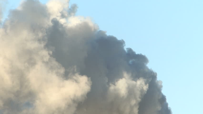 Large smoke cloud in sky 1920x1080